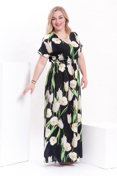 Платье с тюльпанами, П-512/2