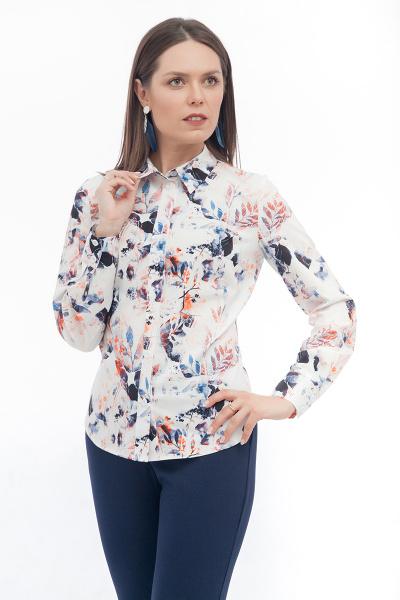 Блуза с оригинальным принтом Б-186/3